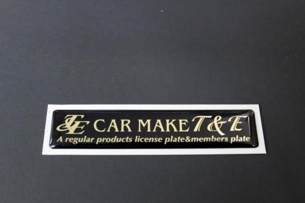 Car Make T&E Members Plate