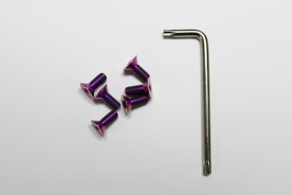 Vertex Titanium Steering Wheel Torx Bolts (PURPLE)