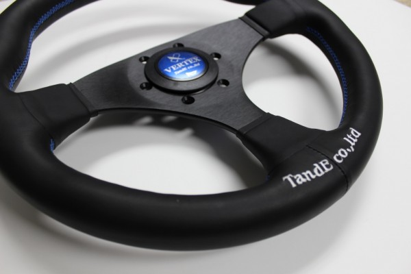 Vertex Flat 325mm Steering Wheel Blue