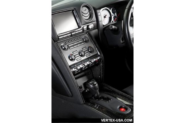 R-Vertex 2010-Up Nissan R35 GTR 11pc Interior Carbon Dash Trim Kit