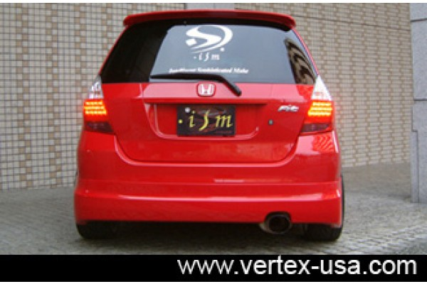 Honda Fit ISM Rear Half Spoiler (Rear Lip)