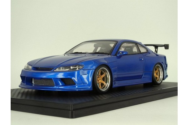 Ignition Model Vertex Edge Nissan S15 1/18th Scale Car Model (Blue)