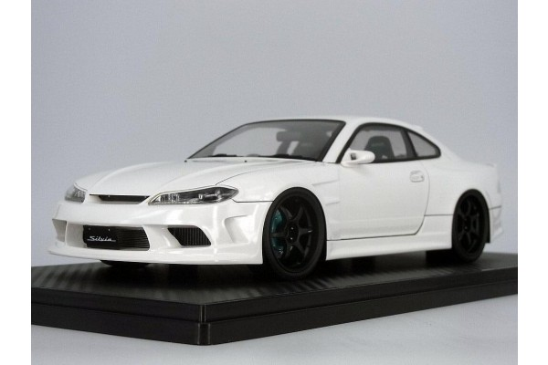 Ignition Model Vertex Edge Nissan S15 1/18th Scale Car Model (White)