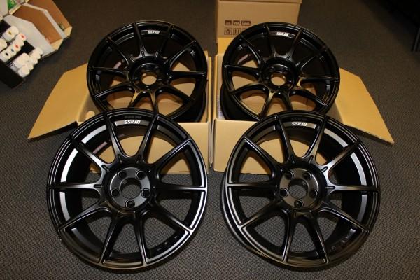 SSR GTX01 17X9 +38 5X100 FLAT BLACK (SET OF 4)