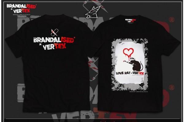 BRANDALISED X VERTEX LOVE RAT T-SHIRT